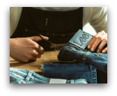 riciclo blue jeans denimite