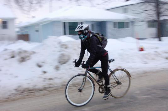 andare in bici d'inverno