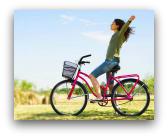 andare in bicicletta: benefici