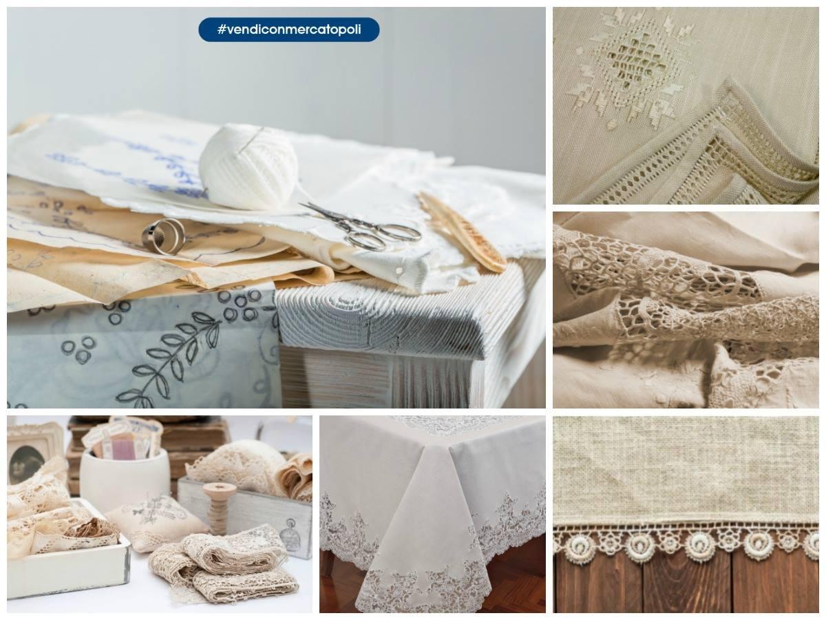 vendere tessile usato ricamato a mano